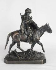 «Черкес на лошади, раскуривающий трубку»