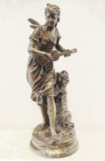 Бронзовая скульптура «Нимфа, играющая на гитаре»