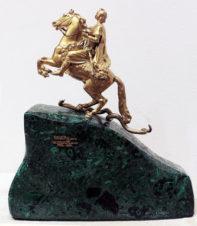 Настольная скульптура «Памятник императору Петру I в Петербурге» («Медный всадник»)