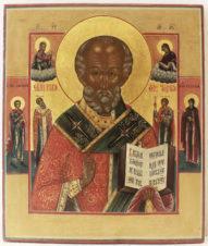 Старинная икона «Святитель Николай Чудотворец»