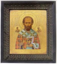 Старинная икона «Святой Николай Чудотворец»