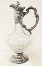 серебряный кувшин для вина с растительным декором