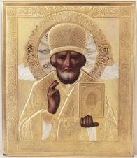 Антикварная икона «Святитель Николай Чудотворец»