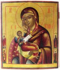 Старинная икона Божьей Матери «Утоли мои болезни»