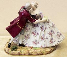 Фарфоровая статуэтка «Дама и кавалер»
