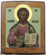 Антикварная икона «Господь Вседержитель»