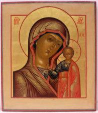Антикварная икона «Богоматерь Казанская»