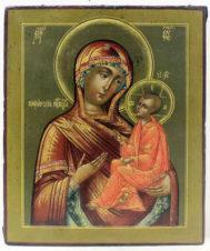 Старинная икона «Пресвятая Богородица Тихвинская»
