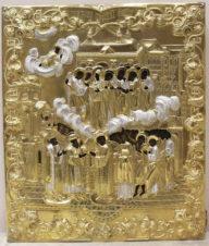 Антикварная икона «Покров Пресвятой Богородицы» в окладе
