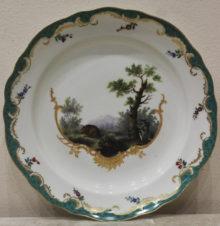 тарелка из «Охотничьего» сервиза