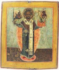Старинная икона «Никола Можайский»