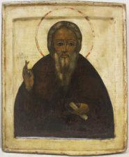 Старинная икона «Сергий Радонежский»