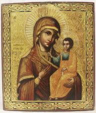 Антикварная икона «Иверская Божья Матерь»