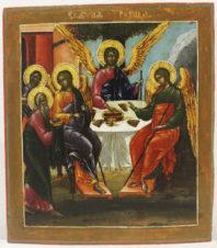 Старинная икона «Пресвятая Троица Ветхозаветная»
