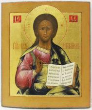 Старинная икона «Господь Вседержитель»