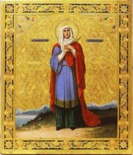 Старинная икона «Святая Татьяна»
