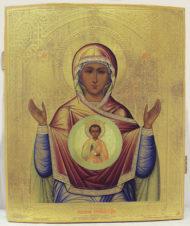 Старинная икона Божьей Матери «Знамение»