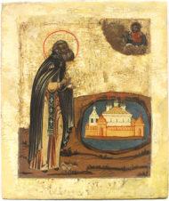 Старинная икона «Преподобный Антоний Сийский»