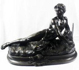 Бронзовая скульптура «бдительность»