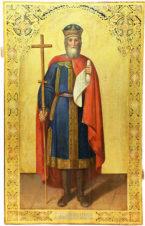 Старинная икона «Святой Равноапостольный Князь Владимир»