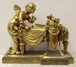 Бронзовая скульптура «Амур -бог любви точит стрелы»