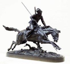 Бронзовая скульптура «Атакующий казак (Атака казака)»