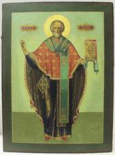 Старинная храмовая икона «Святитель Николай Чудотворец»