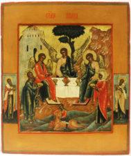 Старинная икона «Троица (Гостеприимство Авраама)»