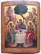 Старинная икона «Святая Троица»