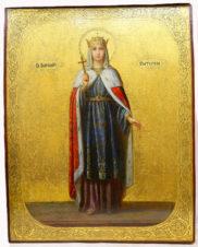 Старинная икона «Святая великомученица Екатерина Александрийская»