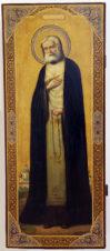 Старинная храмовая икона «Преподобный Серафим Саровский»