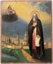 Антикварная икона «Преподобный Макарий Калязинский»