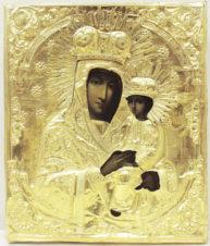 Антикварная икона Божьей Матери «Споручница грешных»