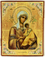 Старинная икона «Страстная Пресвятая Богородица»