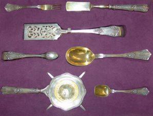 Чайно-десертный набор из серебра 7 предметов