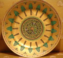 Тарелка из Кремлевского сервиза. По проекту Ф.Г.Солнцева, для великого князя Константина Николаевича.
