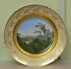 Тарелка декоративная — «Замок на реке Рейн»