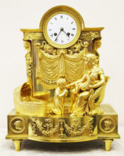 Старинные каминные часы с боем «Молитва перед сном»