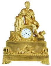 Старинные каминные часы с боем «Римский полководец Марий Гай на развалинах Карфагена»