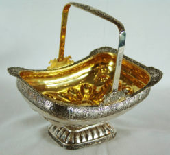Серебряная конфетница в стиле ампир