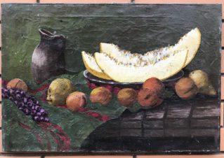 Дыня и персики