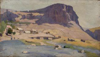 Пейзаж со скалой