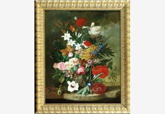 Натюрморт с пионами и лилиями