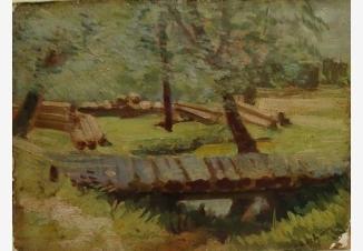 Пейзаж (Копия с картины Левитана)