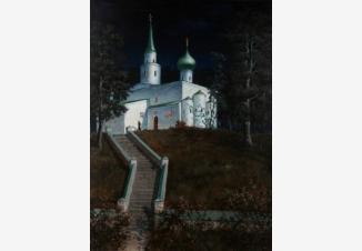 Святогорск ночью