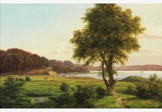 Пейзаж с озером Фуресо в Дании