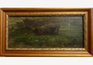 Пейзаж с лодкой