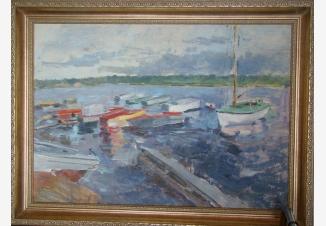 Лодки на пирсе