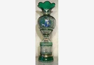 Антикварная ваза из хрусталя