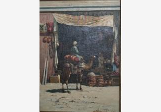 Туркестанский мотив. (Сцена на восточном базаре)
